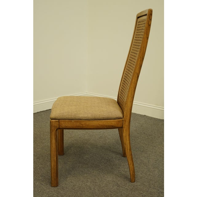 Vintage Thomasville Furniture Forecast Collection Contemporary Cane Back Dining Side Chair For Sale In Kansas City - Image 6 of 9