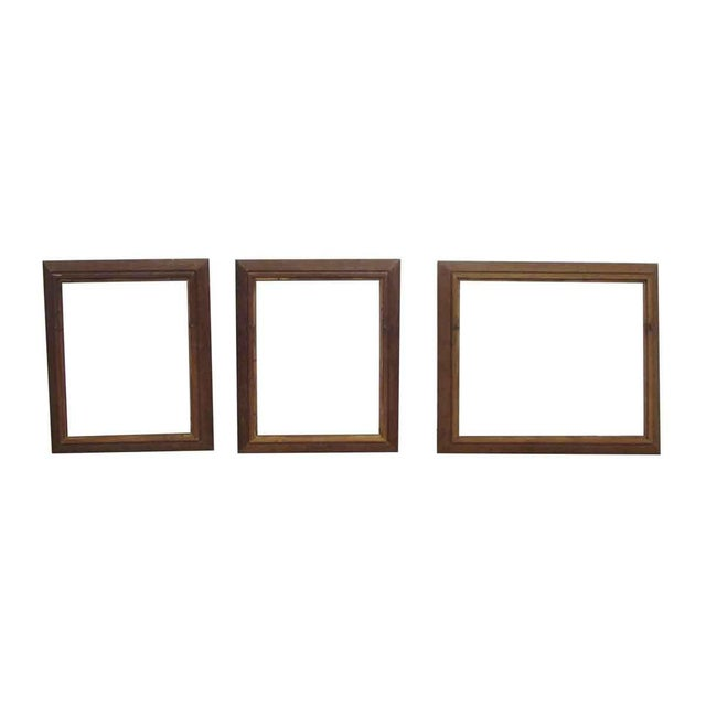 Vintage Wooden Frames - Set of 3 | Chairish
