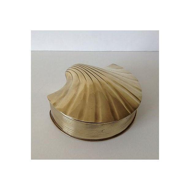Brass Fanned Shell-Shaped Keepsake Box - Image 4 of 8