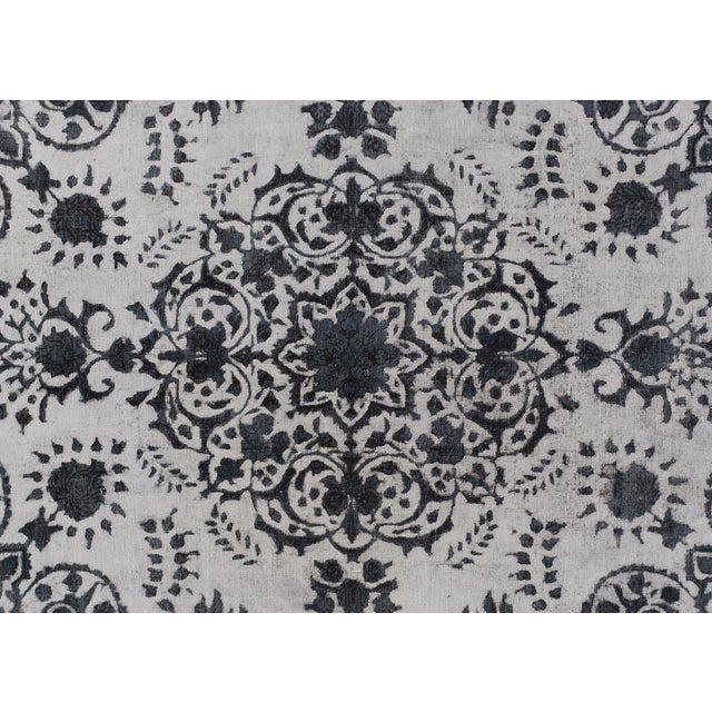 Op Art Burjusta Color Reform Frederic Gray/Gray Wool Rug - 9'3 X 11'9 A9431 For Sale - Image 3 of 7