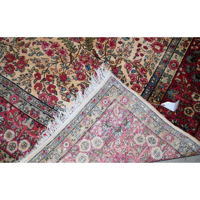 1900s, Handmade Antique Persian Kerman Lavar Rug 8.9' X 11.6' - 1b701 For Sale - Image 12 of 13