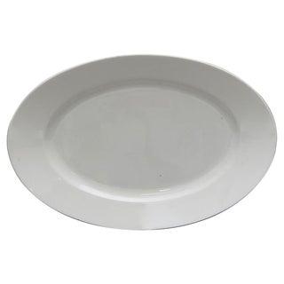 Vintage French White Porcelain Platter For Sale