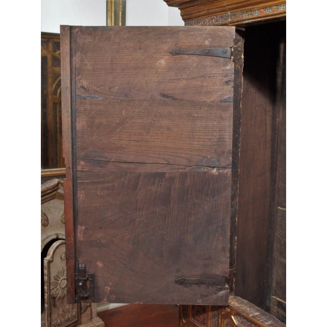 Italian Polychrome Two Door Cabinet For Sale - Image 9 of 11