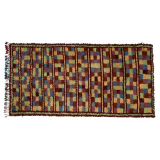 "Hand-Knotted Moroccan Rug - 4'9"" x 9' For Sale"