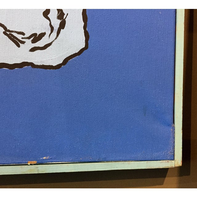 "Blue Patrick Moya ""Mercure Bleu"" Acrylic, France For Sale - Image 8 of 9"
