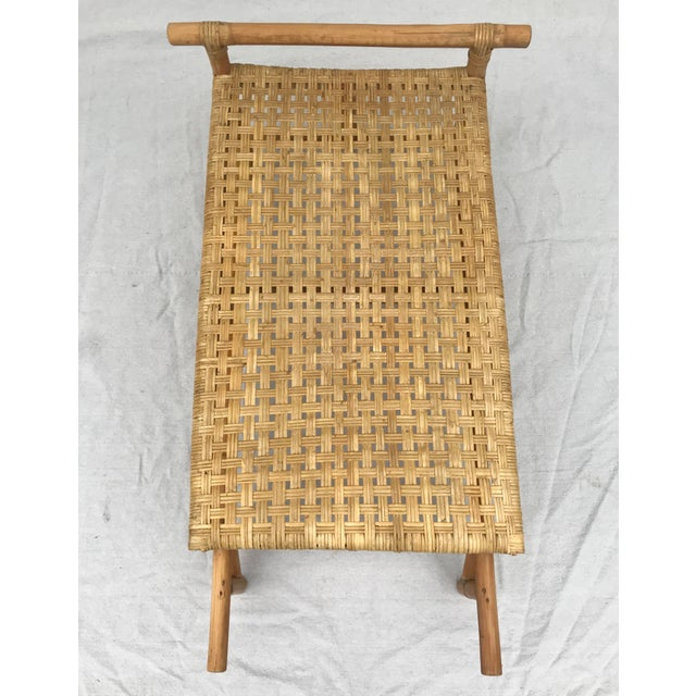 Contemporary Mid 20th Century Bamboo Side Table For Sale - Image 3 of 8