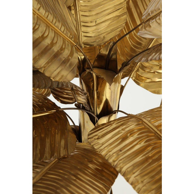 Brass 1970s Vintage Brass Banana Tree Sculpture For Sale - Image 7 of 11