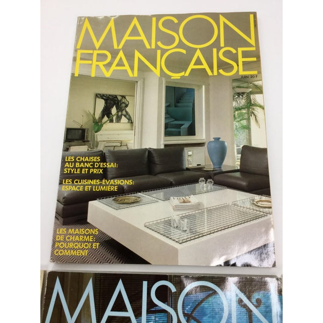 A superb set of 5 vintage decoration magazines from France and written in French. December/January 1984, and June, July,...