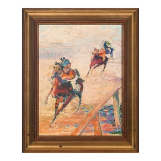 """""""Turning for Home"""" Racing Scene Painting For Sale"""