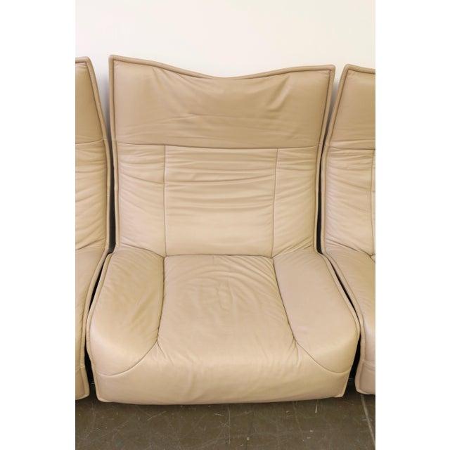 Leather Veranda 3 Sofa by Vico Magistretti for Cassina For Sale - Image 11 of 13
