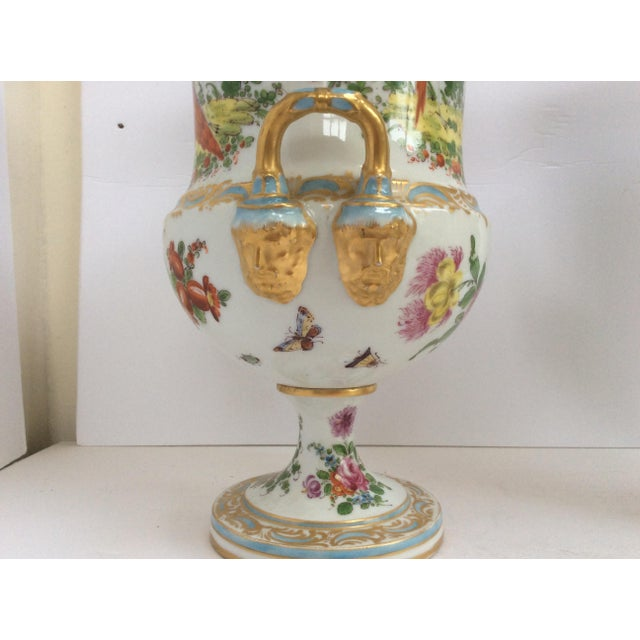 Stunning Large Pair Of Porcelain Urns - Image 3 of 7