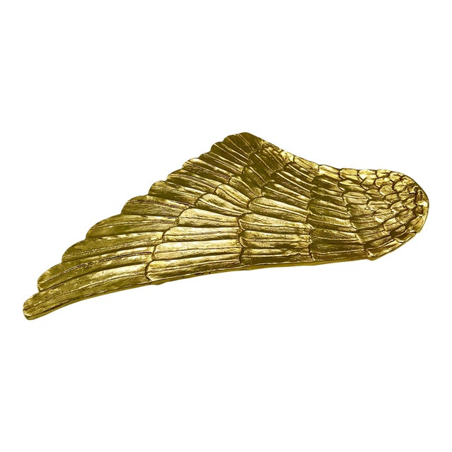 Gilded Metal Gold Wing Serving Platter - Image 1 of 7