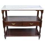 Image of Antique English Mahogany Butlers Cart For Sale