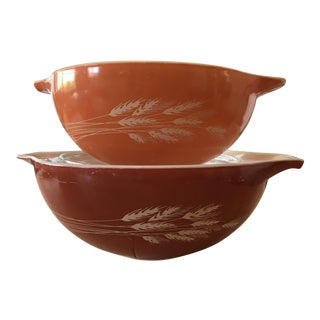 Autumn Harvest Cinderella Bowls - A Pair