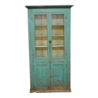 Antique Painted Two Door Country Cupboard
