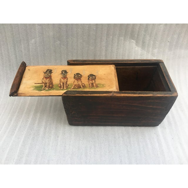 Antique Wooden Mystery Box For Sale - Image 9 of 11