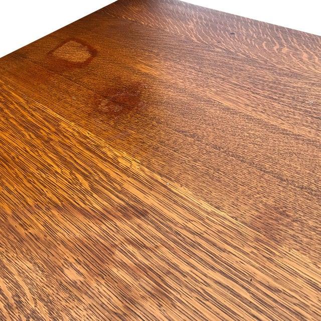 Antique Mission Oak Arts & Crafts Desk - Image 5 of 6