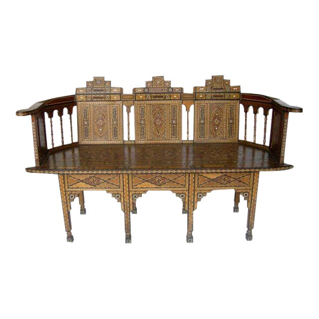 Levantine Syrian Inlay/Parquetry Bench For Sale