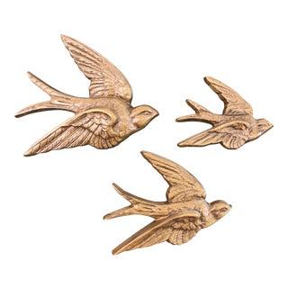 Burwood Faux Bois Sparrows - Set of 3 For Sale