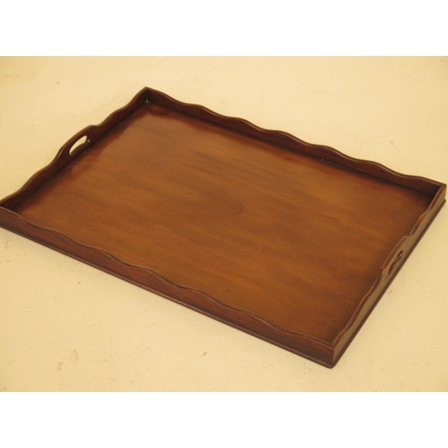 Baker Mahogany Serving Tray Table For Sale - Image 9 of 13