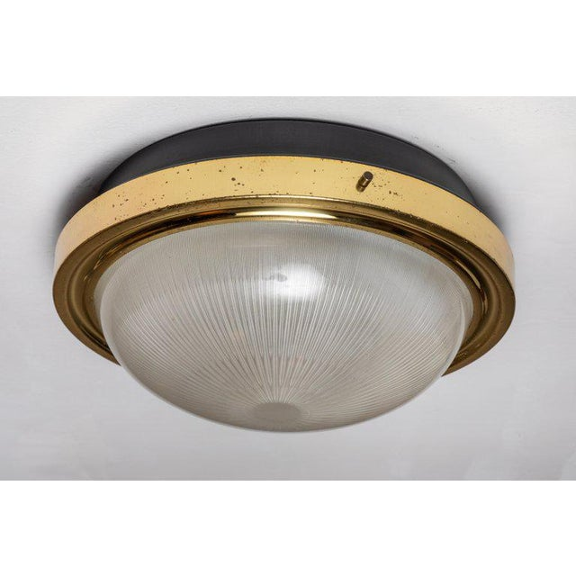 1960s Sergio Mazza Brass & Glass Wall or Ceiling Lights for Artemide - A Pair For Sale - Image 13 of 13