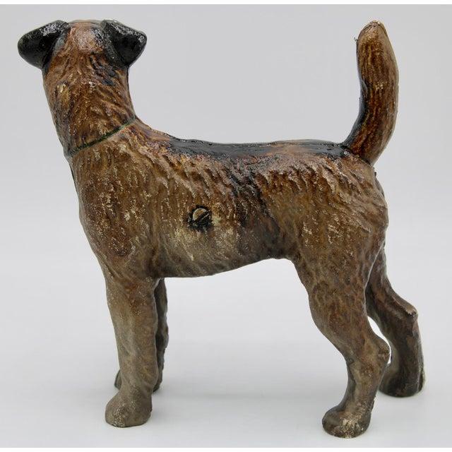 Antique Cast Iron Hubley Dog Door Stop / Garden Statue For Sale In Tulsa - Image 6 of 13