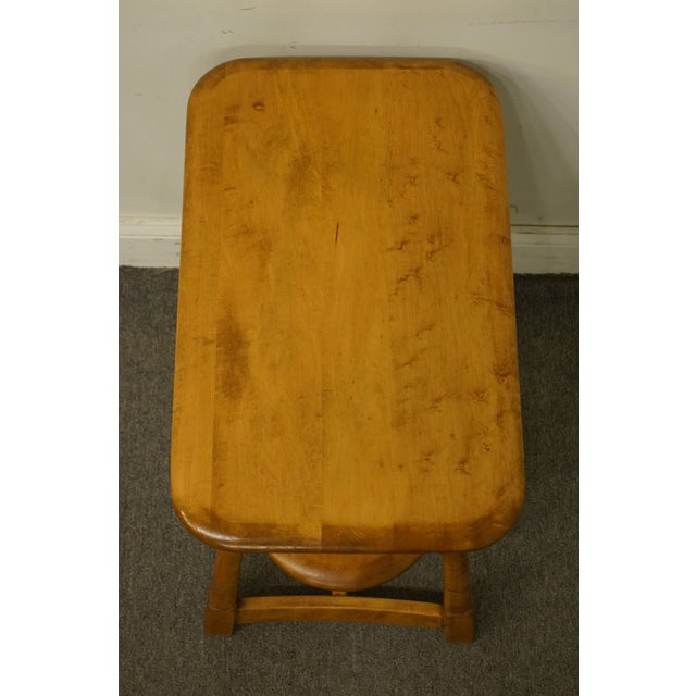 """Mid Century Modern Solid Hard Rock Maple 25x15"""" End Table For Sale - Image 4 of 10"""