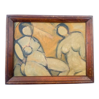 Nude of Two Women Oil Painting For Sale