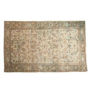 "Vintage Distressed Mehrivan Carpet - 5'11"" X 9'4"""