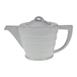 Vintage Art Deco Style Frank Lloyd Wright Guggenheim Spiral Porcelain Teapot For Sale