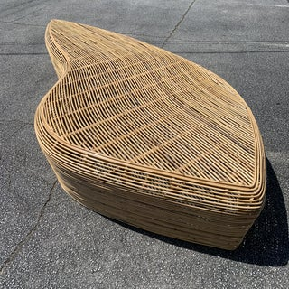 Large Scale Organic Shaped Natural Rattan Bench / Table Preview