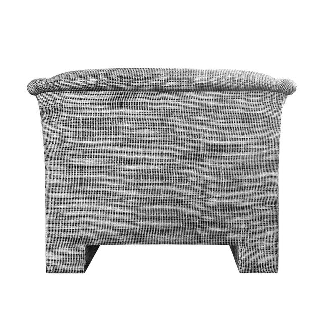 Modern 1970s Modernist Lounge Chair in Black and White Wool Basketweave Upholstery For Sale - Image 3 of 5