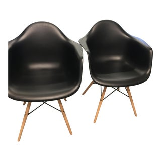 White and Black Bucket Chairs