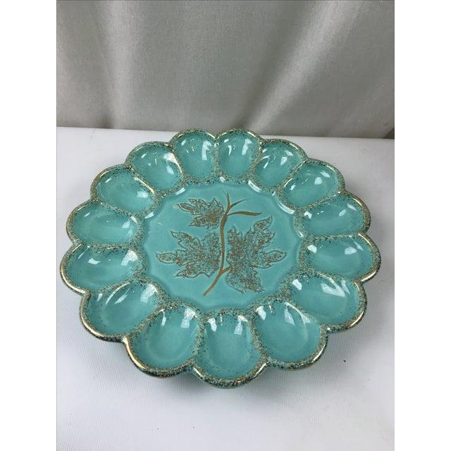 Mid-Century Ceramic Deviled Egg Plate - Image 3 of 6