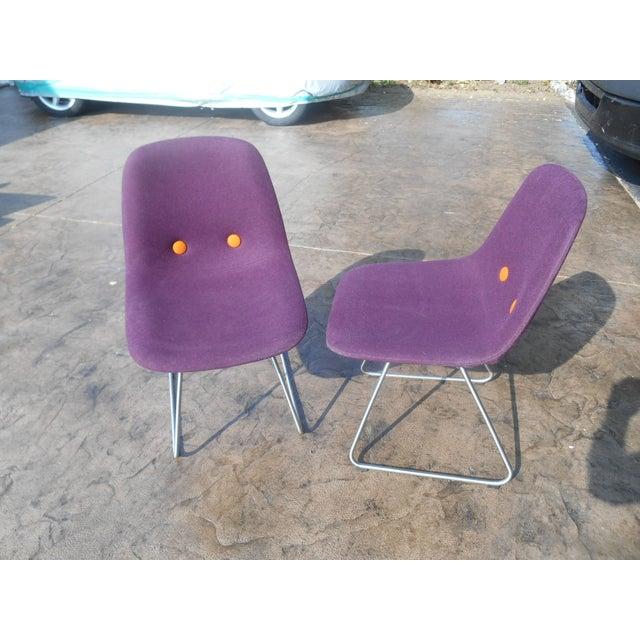 Mid-Century Modern Erik Jorgensen Ej2-W Designer Side Chairs - a Pair For Sale - Image 3 of 7