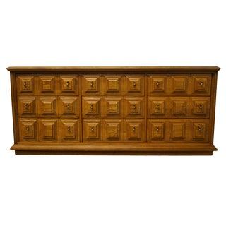 """Stanley Furniture Spanish Mediterranean Style 73"""" Triple Dresser For Sale"""