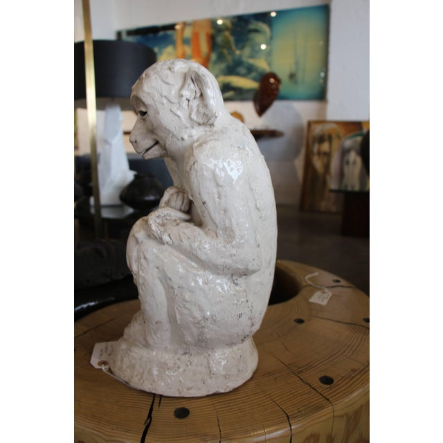 Ceramic Monkey Sculpture For Sale - Image 4 of 10