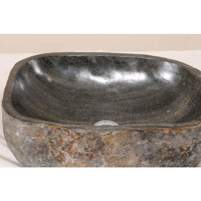 Natural Handcrafted River Rock Sinks-A Pair For Sale - Image 10 of 11