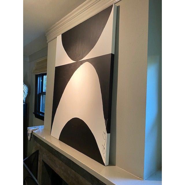 Contemporary Black & White Original Contemporary Painting For Sale - Image 3 of 5