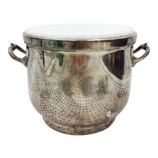 Vintage Engraved Silver Champagne Bucket