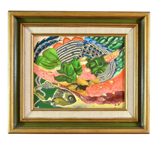 Abstract Sea Theme Framed Oil Painting - Image 1 of 7