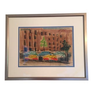 1950s Vintage May Bender View of W. 53rd Street, New York City Painting For Sale