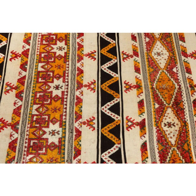 Moroccan Vintage Tribal Rug For Sale - Image 4 of 10