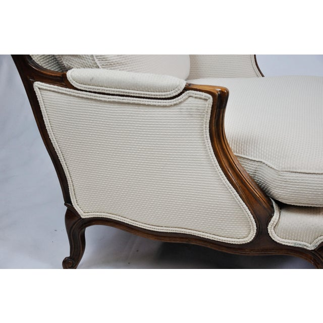 1980s Pair of Vintage Queen Anne Wingback Chairs For Sale - Image 5 of 13