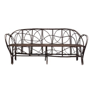 Continental Rustic Bent Willow Settee For Sale