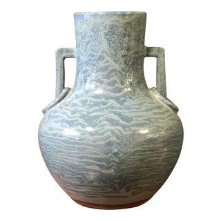 Large Blue Terra Cotta Vase For Sale