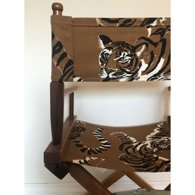 Brown Le Tigre Directors Chair For Sale - Image 8 of 10