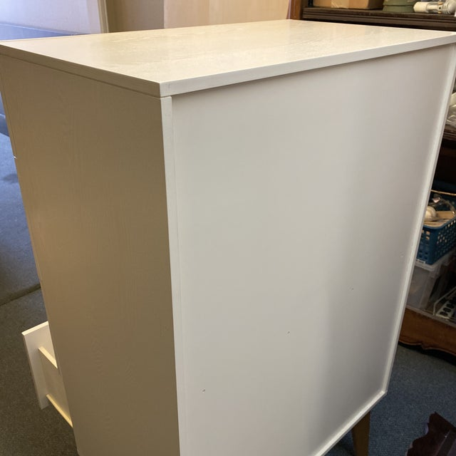 West Elm Mid-20th Century Style Tallboy Dresser For Sale - Image 9 of 13