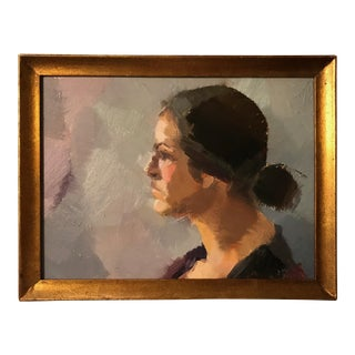 Portrait of a Woman Oil on Board