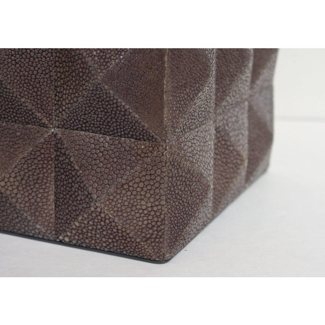 Early 21st Century Pyramid Gray Shagreen Box by Fabio Ltd For Sale - Image 5 of 8
